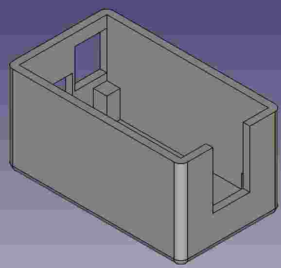 FreeCAD model bottom
